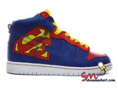 lowest price 3ae69 9299d Nike Dunk High Mens Custom SuperMan By Brass Monki Sneaker - Warming