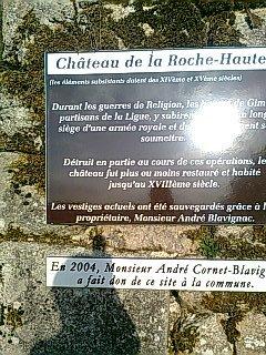 RUINES DU CHATEAU DE GIMEL