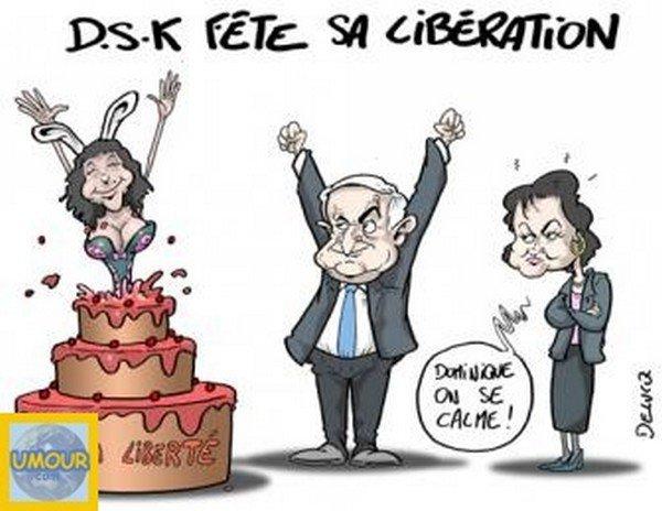 DSK FETE SA LIBERATION DE MON AMI HUMOUR DU JOUR