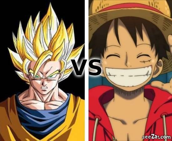 san goku vs luffy