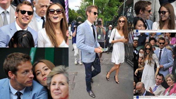 F1 : Couple Button - Jessica & Jenson à Wimbledon : Démonstration d'amour & tendresse
