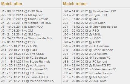 -> calendrier 2011/2012 de L'OL