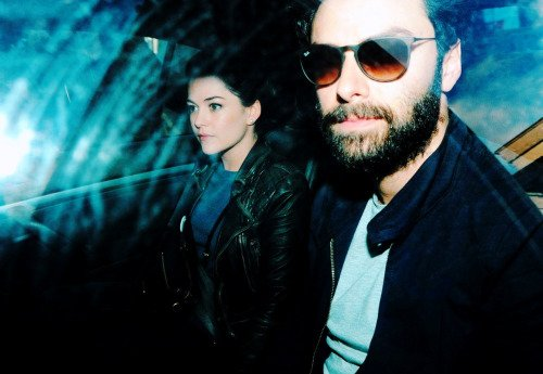 24 mars 2015 : Aidan, en compagnie de sa conjointe, l'actrice Sarah Greene, au Festival international du film de Dublin (Irlande)
