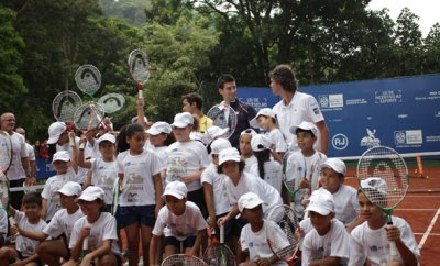 Djokovic vs Guga en exhibition