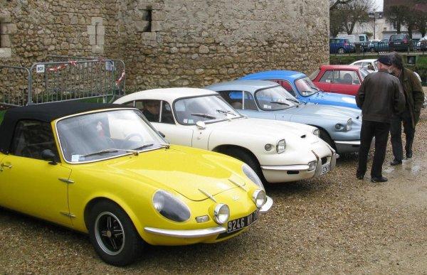 Une soixantaine de voitures de collection autour du château