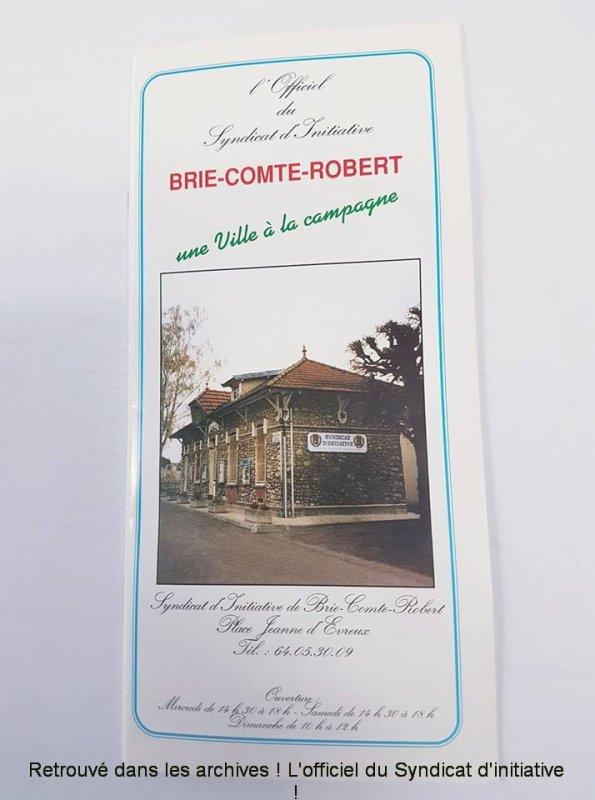syndicat d initiative brie comte robert