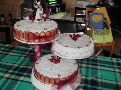 Pièce montée Mont Blanc pour un mariage