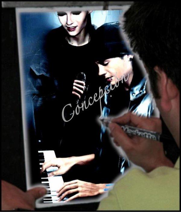 (758)Fan art - Bill et Tom de microphone et piano:-)
