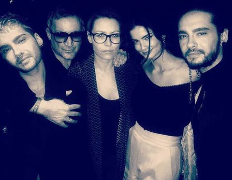 Bill et Tom avec des amies a la soirée ICONISTxHM de H&M - Berlin, 14.02.2017