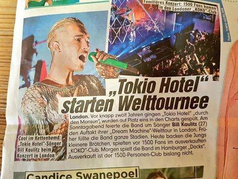 Bild – Tokio Hotel se lance dans une tournée mondiale