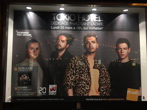 Demain 🙌🏼 Tokio Hotel en dédicace à la FNAC Saint-Lazare à 18h00 !!!  🚨Invitation à retirer à 10h00 à Fnac Saint-Lazare 🚨