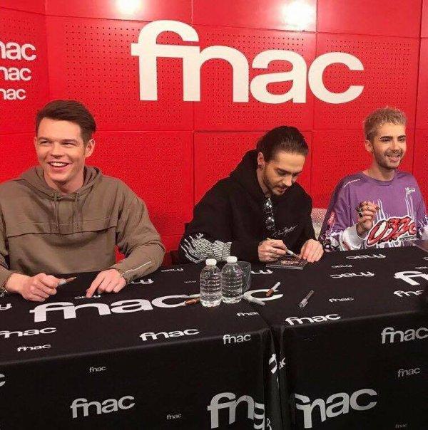 Tokio Hotel à la fnac le 20/03/2017