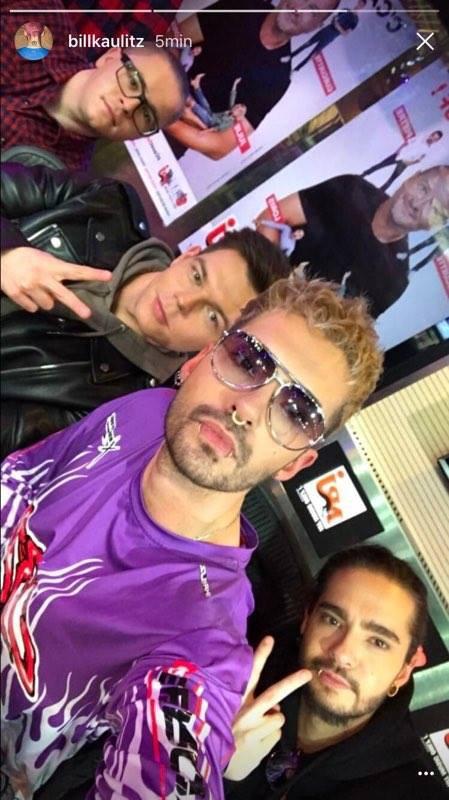Photo de Tokio Hotel chez Cauet le 20/03/2017