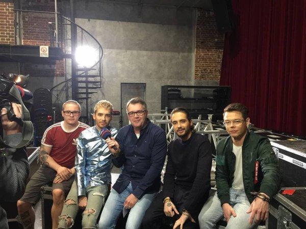 Photo-Le groupe en interview pour WDR, Cologne-24.03.2017
