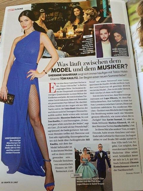 Bunte Magazine n°23 – Qu'y a-t-il entre la mannequin et le musicien?