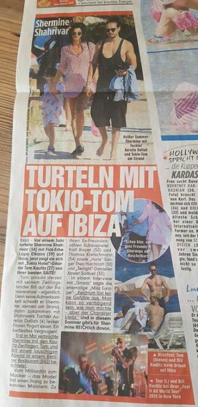 Bild 08/06/2017 – Shermine Shahrivar roucoule avec Tokio-Tom à Ibiza