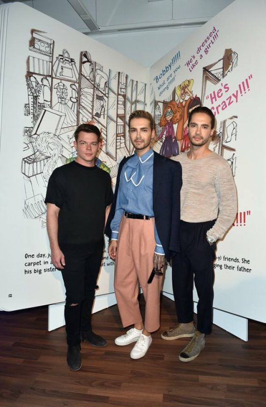 Photos-Bill, Tom et Georg, Cadillac House Opening, Munich-13.07.3017