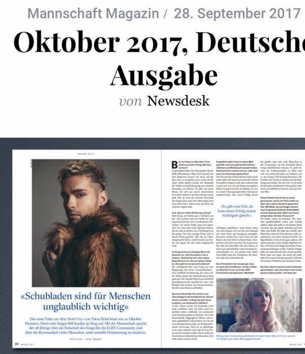Mannschaft Magazin 28-09-2017 – «Les gens accordent énormément d'importance aux catégories»