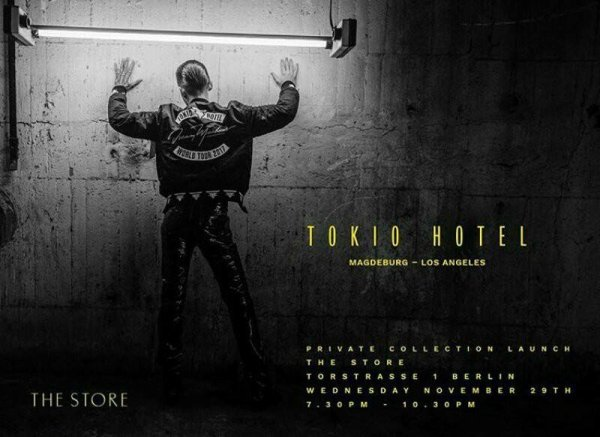 Lancement de la collection Tokio Hotel Magdeburg Los Angeles aujourd'hui à Berlin.