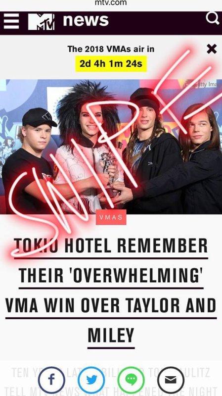 Instagram story de Tokio Hotel