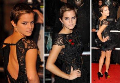 Emma Watson avec les cheveux court