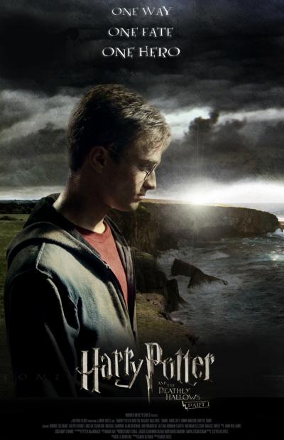 Affiche du film Harry Potter et les reliques de la mort .