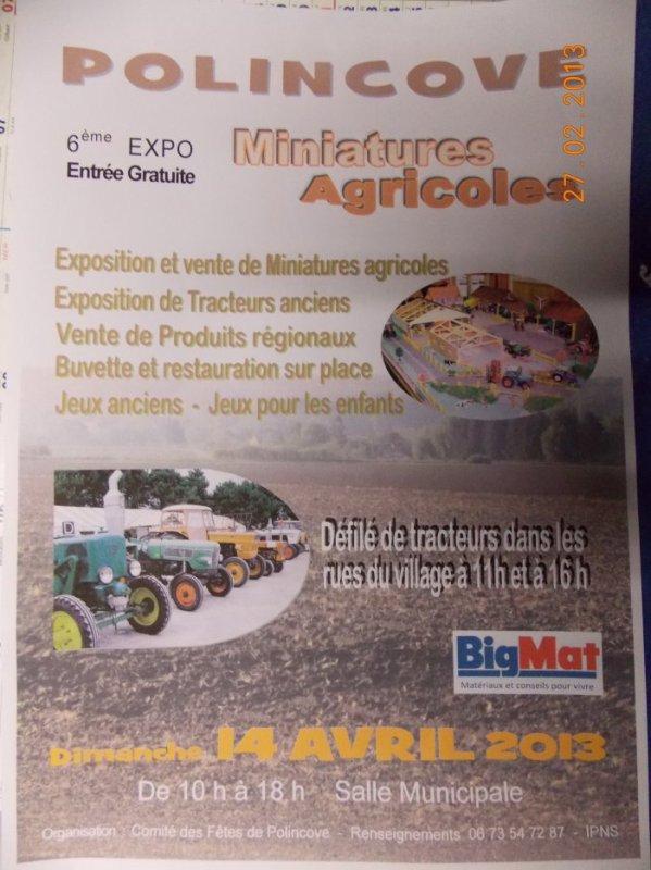 Expo de Polincove le 14 avril 2013, venez nombreux