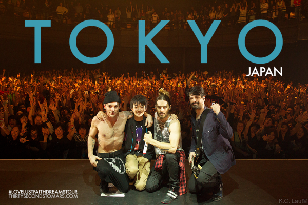#LoveLustFaithDreamsTour: MARS + the crowd of Shibuya-AX in TOKYO, JAPAN • April 3, 2014!