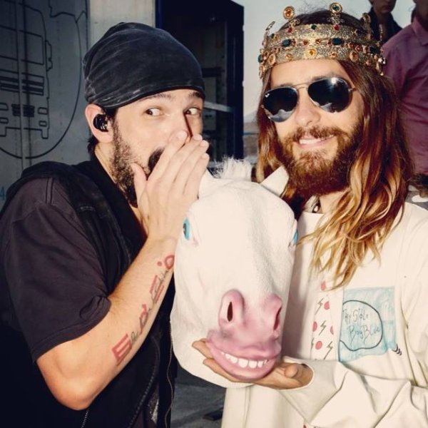 Jared Leto and Tomo The Horsewhisperer .