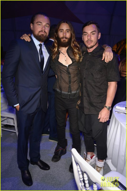 Jared & Shannon at Leonardo DiCaprio Foundation Gala Saint Tropez – 23 July 2014