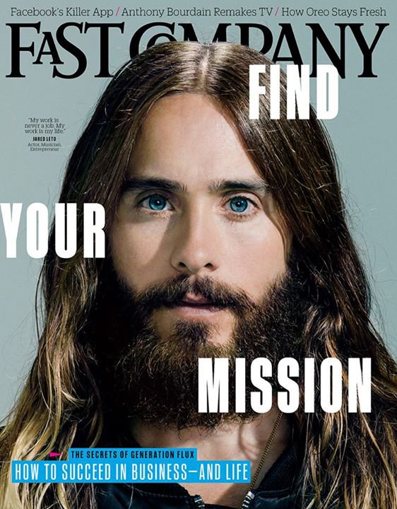 Jared Leto on the Cover of Fast Company Magazine