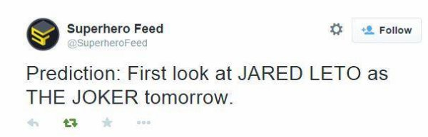 Jared endosse pour la première fois le rôle du Joker !