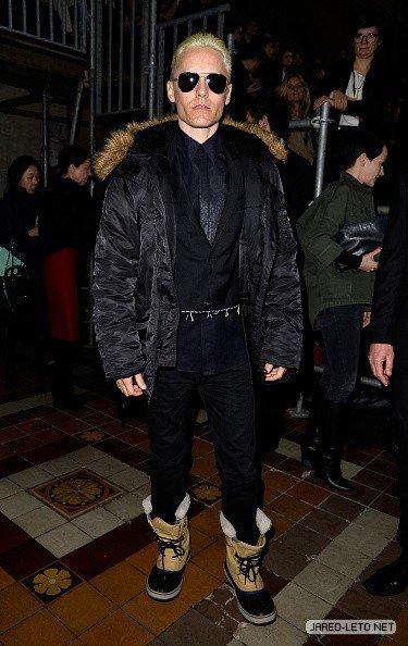 Jared at the Balmain show Paris Fashion Week 05.03.15