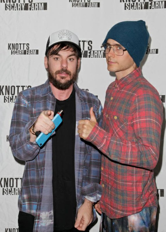 Jared et Shannon At Knott's Scary Farm - LA - 16 Oct 2015