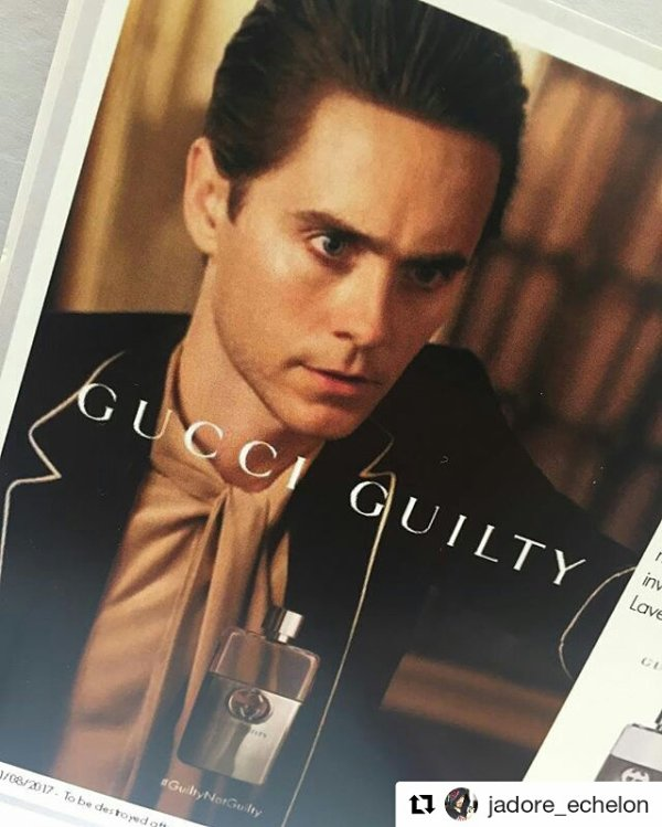"""Jared Egérie nouveau parfum Gucci """"Guilty"""""""