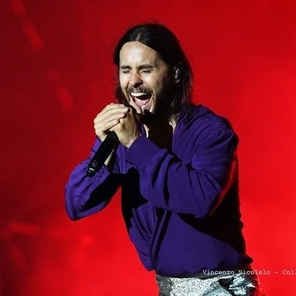 Jared performing in Barolo, Italy on July 7, 2019.
