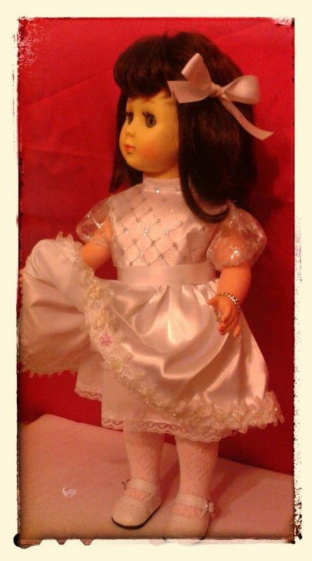 Marie Françoise vous présente sa robe pour le défi de Nanou !