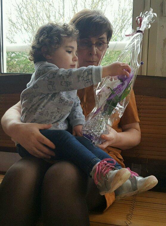 La fête  des mamies avec ma jolie petite Gaïa