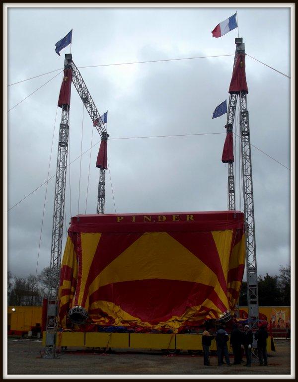 Montage cirque Pinder Poitiers février 2017 (5)
