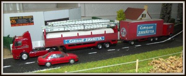 Les 3 convois du cirque Claudio Zavatta qui seront sur le diorama