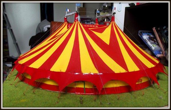 Réalisation du nouveau chapiteau du cirque Pinder à l'échelle 1/87 (2)