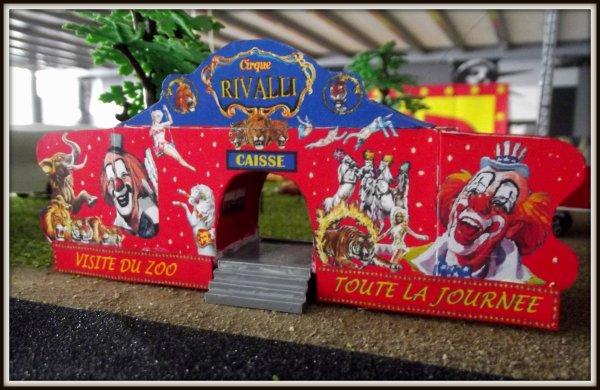 Maquette cirque RIVALLI  1/87ème, convoi n°2 et 3