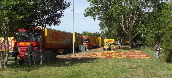 Arrivée du cirque Pinder à Saint gilles croix de vie août 2017 (5)
