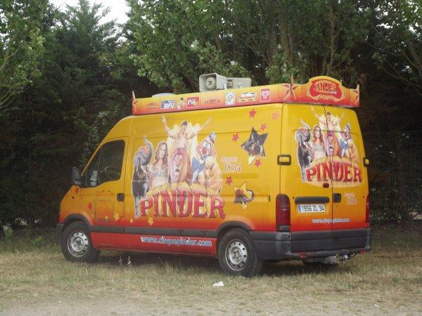 Afficheur cirque Pinder Sables d'Olonnes août 2017