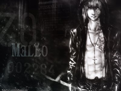 L and Mello de death note