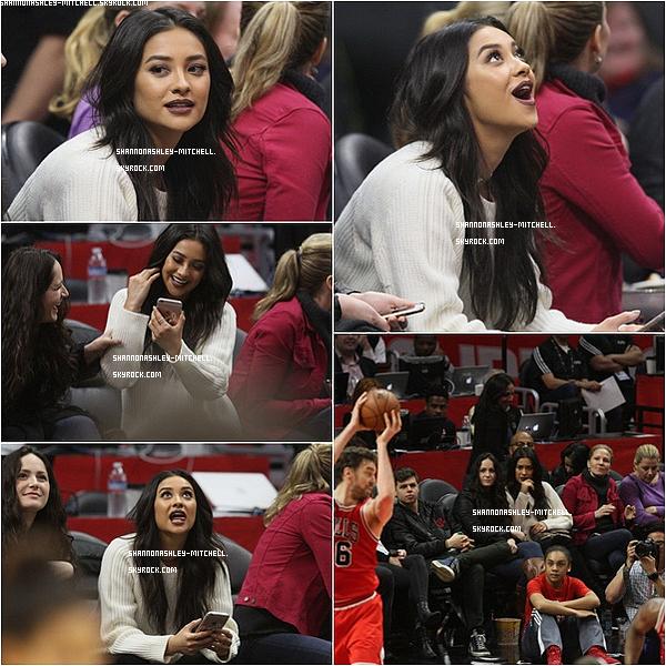 .  ♦Events:    Shay est allée assister à un match de basket en compagnie de Sammy. .