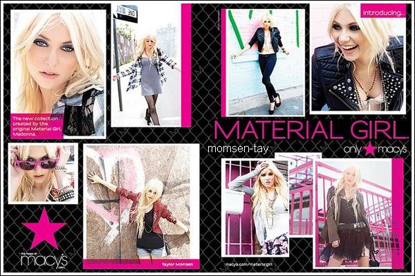 .Découvrez les premiers aperçus de la campagne Material Girl ! ;