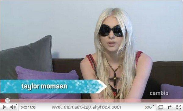 .Taylor a accordé une mini interview au site Cambio Connect Traduction très approximative, si quelqu'un empêchait Taylor de parler aussi vite...