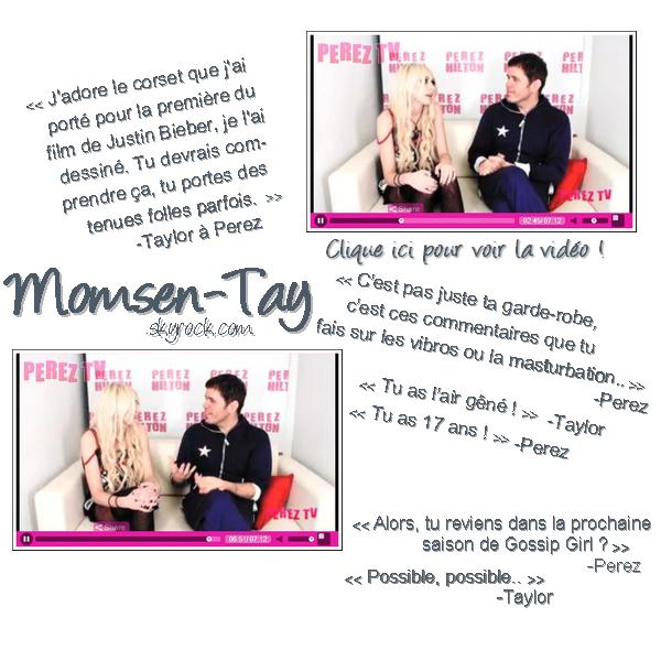 /Entre amitié et haine, Perez Hilton & Taylor Momsen hésitent toujours...