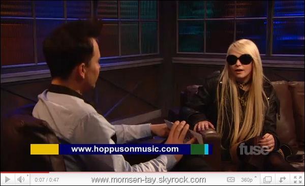 . Taylor est apparu dans l'émission Hoppus Music !